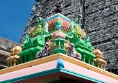 stock photo of meenakshi  - Roof of Sri Meenakshi hindu temple in Madurai - JPG