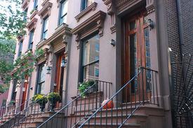 stock photo of brownstone  - Brooklyn Heights is one of Brooklyn - JPG