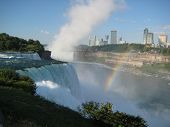 A Rainbow At The American Falls