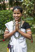 Women In A Traditional Tibetan Dress