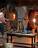 Tacoma, Wa - November: Museum Of Glass Demonstration