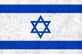 Grunge Dirty And Weathered Israeli Flag
