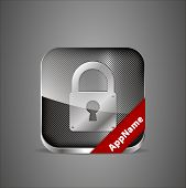 Vector Lock App Icon.