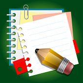 Notas de papel de la escuela