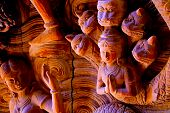 Attraction Pattaya-The Santuary Of Truth - wooden god