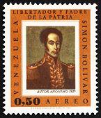 Postage stamp Venezuela 1966 Simon Bolivar, Portrait