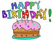 Happy Birthday and Cake