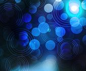 Blue Abstract Circles Background