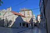 old stone square in Sibenik, Croatia