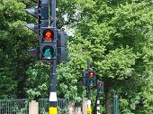 Three Red Traffic Lights In A Row