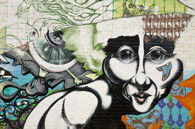 picture of street-art  - Urban grafitti art on the side of a building in downtown Phoenix Arizona - JPG