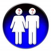 Icono de mujer y hombre