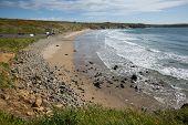 Pembrokeshire coast Whitesands Bay beach St Brides Wales