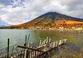 Lake Chuzenji and Mt. Nantai at Nikko National Park in Tochigi, Jpan.