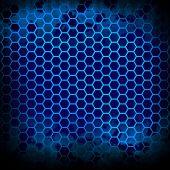 metallic grid background