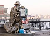 Firefighter Statue At Exchange Place Jersey City
