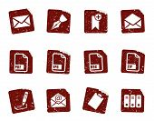 Grunge Filing Icon Set