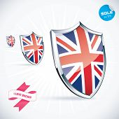 I Love Britain Flag Illustration
