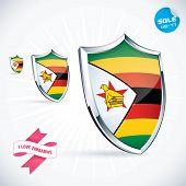 I Love Zimbabwe Flag Illustration