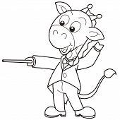 Dibujos animados jirafa música Conductor