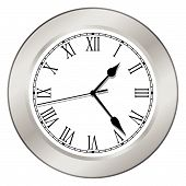 Clock - Silver
