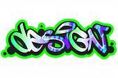 Graffiti vector art urban design element
