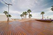 Modern Beach Promenade