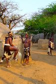 Zulu warriors in Shakaland Zulu Village, South Africa