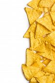 image of nachos  - corn nachos on white background - JPG