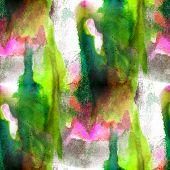art green, pink avant-garde hand paint background seamless wallp