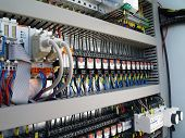 stock photo of contactor  - Industrial electrical equipment - JPG
