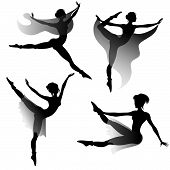 foto of ballet-dancer  - set of ballet - JPG