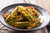 stock photo of okras  - okra stew - JPG