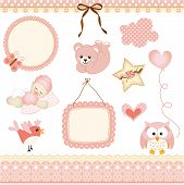 Baby girl design elements