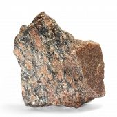 stone red single granite boulder large river isolated big rock b