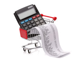 pic of grocery cart  - Shopping till receipt - JPG