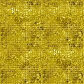 Seamless gold sparking and glittering mosaic background. Glittering sequins wall.