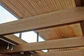 Wood Beams Inside A Building