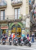 Antique pastry shop in Ramblas street, Barcelona