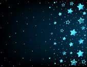 Cartoon star colored background