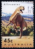 Postage Stamp Australia 1993 Allosaurus, Theropod Dinosaur