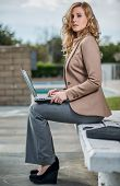 Young Twenties Caucasian Career Woman Working Remote