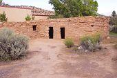 pic of pueblo  - Exterior of Anasazi Pueblo circa1050  - JPG