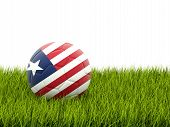 Football With Flag Of Liberia