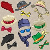 Vector Set Hipster Accessories