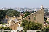 Jantar Mantar , Medieval Observatory In Jaipur, India.view Of  From Hawa Mahal Palace
