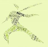 Wushu Word Cloud With Green Wordings