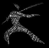 Wushu Word Cloud With White Wordings