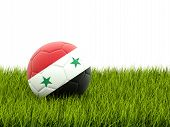 Football With Flag Of Syria