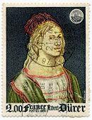 Stamp fro France Albrecht Durer